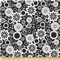 Riley Blake Evening Blooms Floral Black