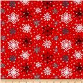 Lucie Crovatto Polar Bear Piroutte Large Snowflake Red