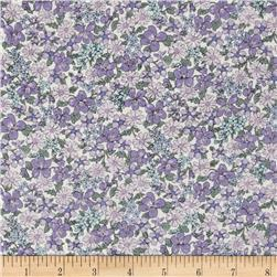Memore a Paris Cotton Lawn Spring Flowers Packed Lavender