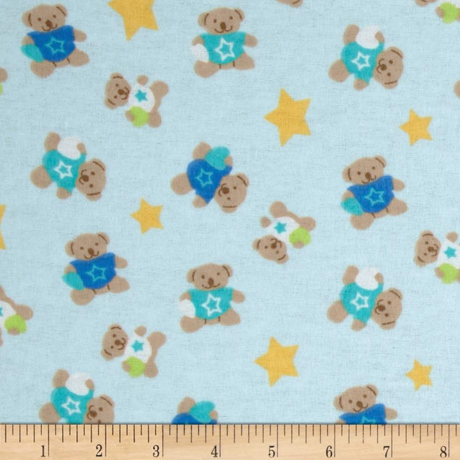 Newcastle Flannel Star Bears Blue