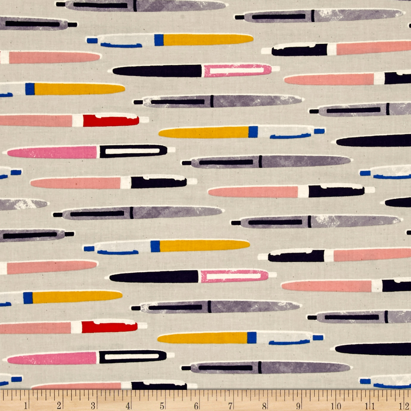 Cotton + Steel Trinket Pens Neutral Fabric by Cotton & Steel in USA