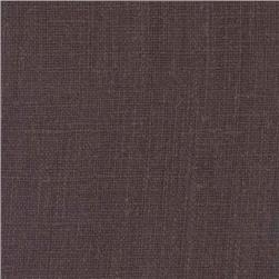 European Linen Fabric Dark Chocolate
