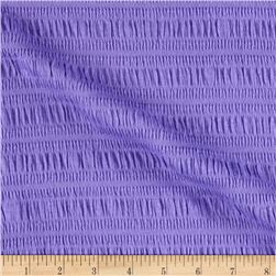 Smocked Cotton Knit Lavender