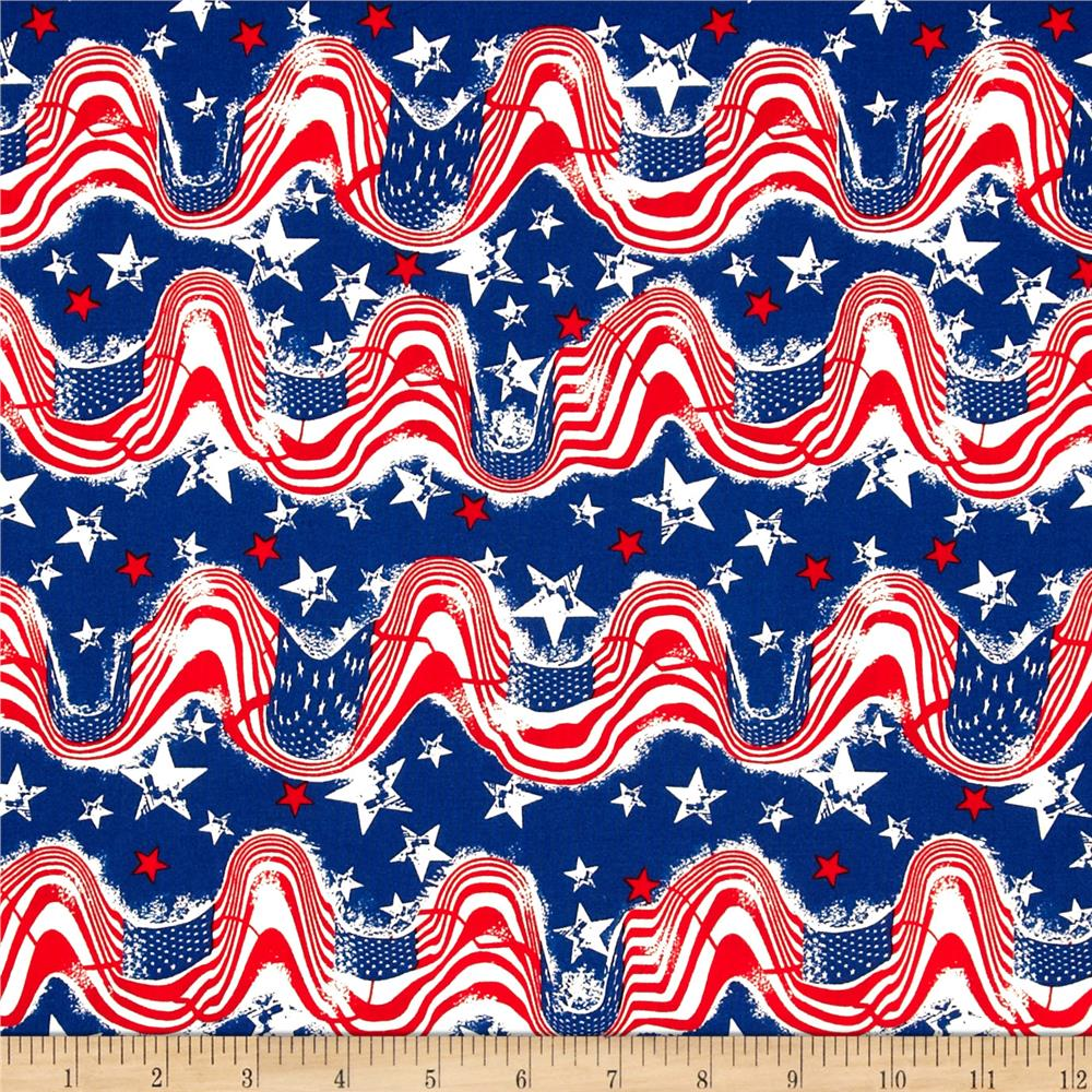 Stars & Stripes II Waving Flags & Stars