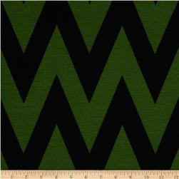 Fashionista Jersey Knit Medium Chevron Green/Black