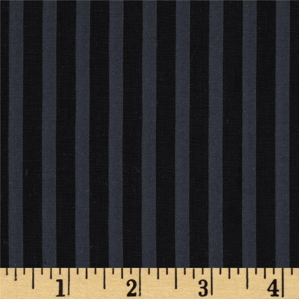 Kanvas Night at the Opera Shirting Stripe Black/Charcoal