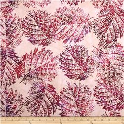 Bali Batiks Handpaints Leaves Raspberry