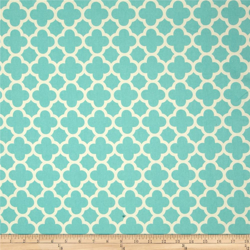 Riley Blake Home Decor Quatrefoil Aqua Discount Designer