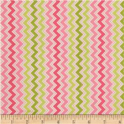 Kimberbell's Merry & Bright Zig Zag Pink Fabric