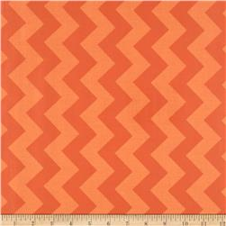 Riley Blake Laminate Medium Chevron Tone on Tone Orange