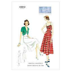 Vogue Misses' Dress, Belt and Bolero Pattern V8812 Size A50