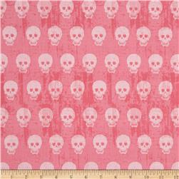 Riley Blake Geekly Chic Skulls Hot Pink Fabric