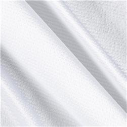 Charmeuse Satin Luster White