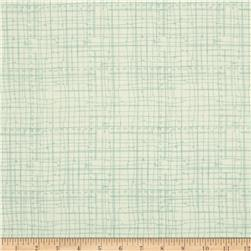 Bloom Sketched Plaid Green Fabric