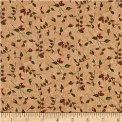 Moda Endangered Sanctuary Flannel Petite Leaves Pecan