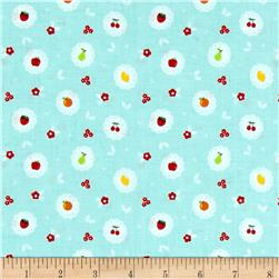 Riley Blake Sweet Orchard Scallop Aqua