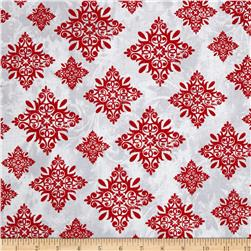 Seasons Greetings Large Medallion Red