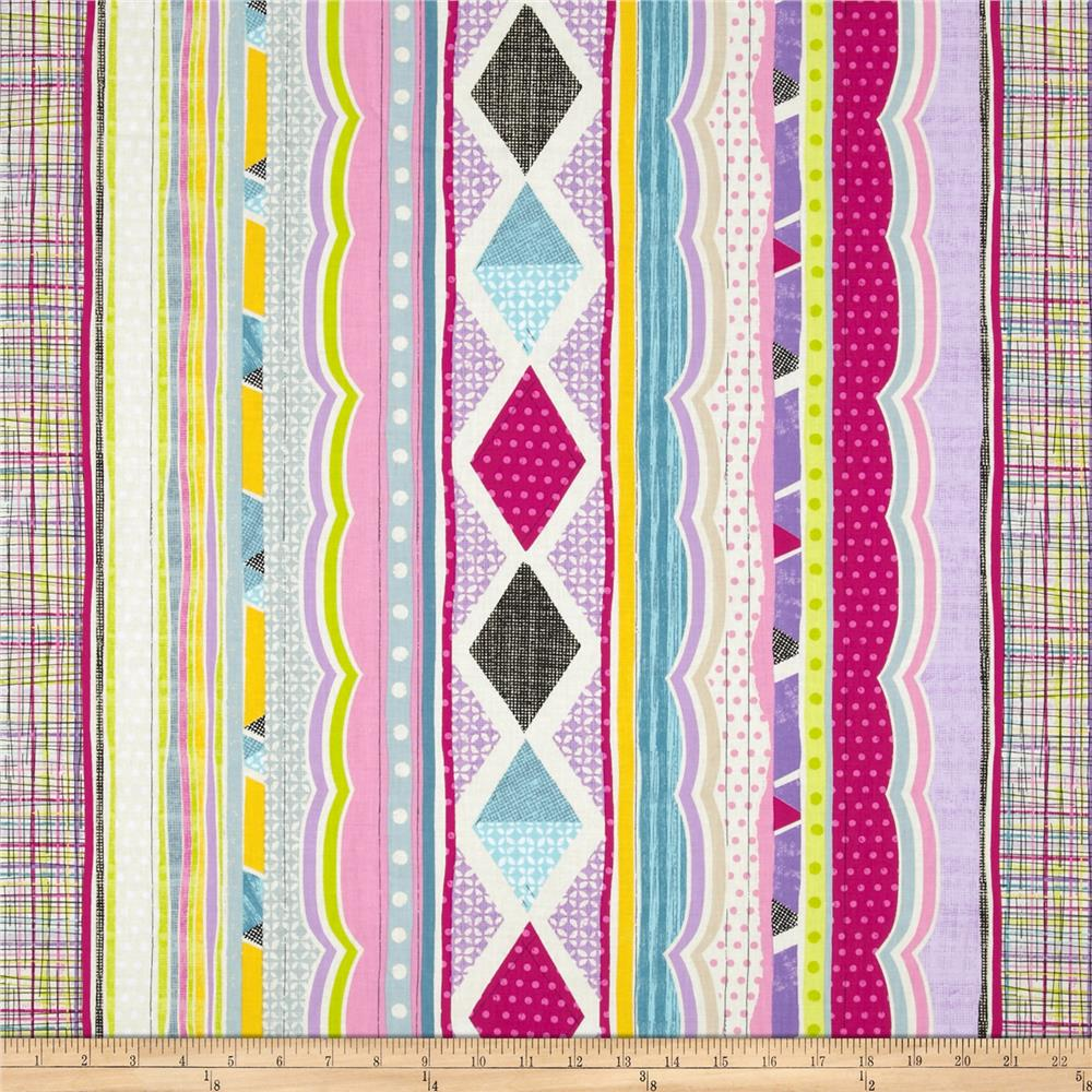Timeless Treasures Field Study Abstract Stripe Multi