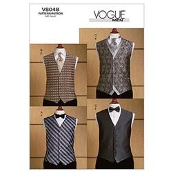 Vogue Men's Vest, Tie and Bow Tie Pattern V8048 Size MUU