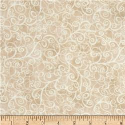 Timeless Treasures Flannel Breeze Cream