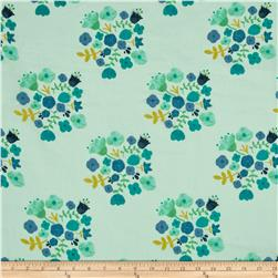 Riley Blake  Double Gauze Hedgerow Bouquet Blue