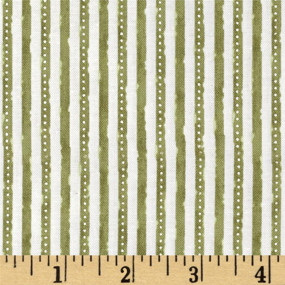Winter Celebration Mini Stripe Green