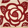Seedlings by Thomas Paul Deco Rose Twill Red