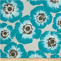 P/Kaufmann Outdoor Poppy Patch Turquoise