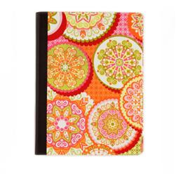 Lifestyle Fabric Covered Notebook Medallion