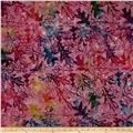 Timeless Treasure Batik Tonga Gypsy Oak Leaf Mauve