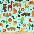 Jungle Creatures Animal Collage Bermuda
