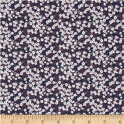 Liberty of London Classic Tana Lawn Mitsi Valeria Pansies Purple/Blue/White
