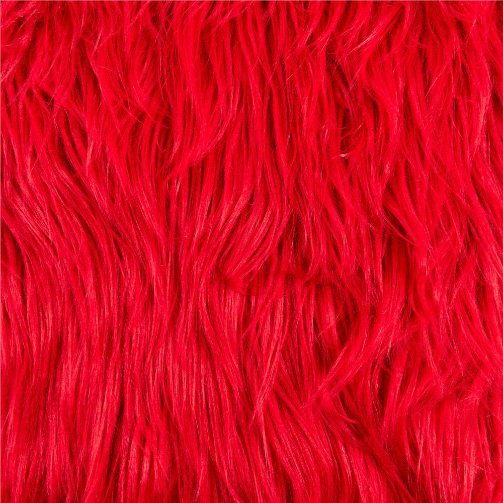Shannon Faux Fur Gorilla Fire Red