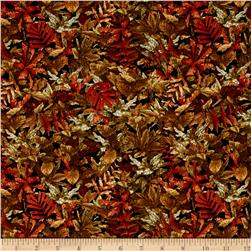 Jurassic Jungle Foliage Brown
