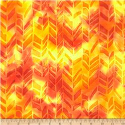 Indian Batiks Abstract Orange/Yellow