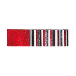 "#1 Fan Essential Gems 2.5"" Strips Gray/Red/Black"