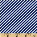 Timeless Treasures Hey Sailor Bias Stripe Blue