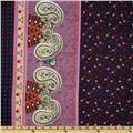 Cotton Voile Paisley Purple