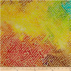 Indian Batiks Aztec Maze Dark/Multi