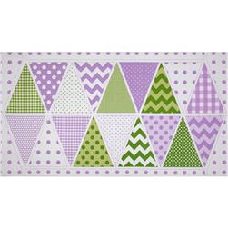Riley Blake Holiday Banners Panel Easter Purple Fabric