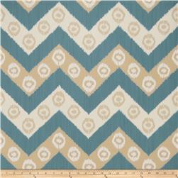 Fabricut 50034w Chevron Wallpaper Ocean 05 (Double Roll)