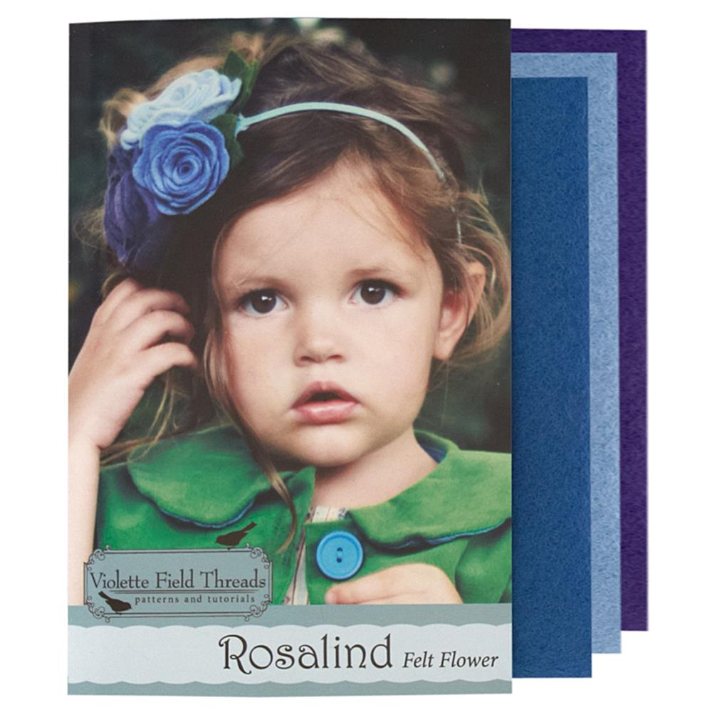 Violette Field Threads Rosalind Flower Kit Blue/Purple