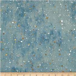 Robert Kaufman Sound of the Woods Metallic Spatter Mist