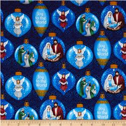 Silent Night Ornaments Blue