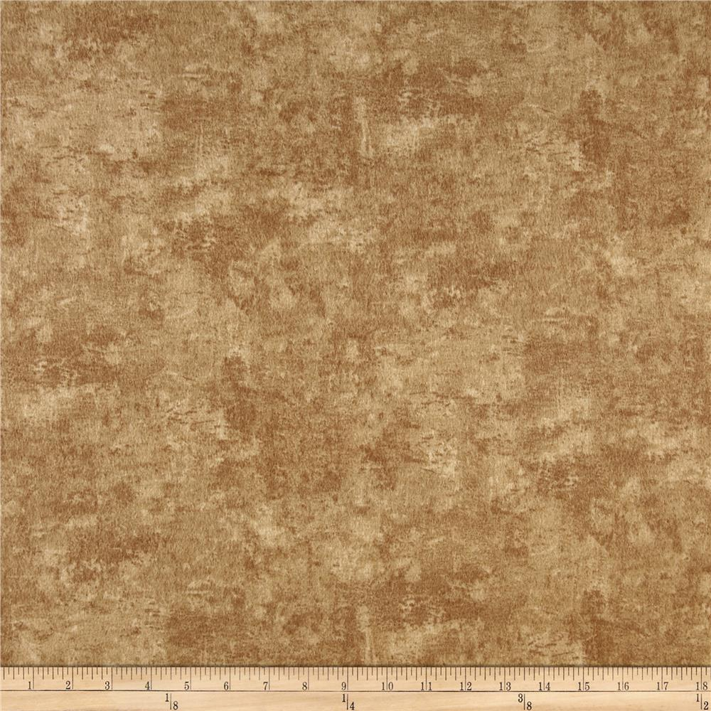 Timeless Treasures Winter Memories Flannel Texture Tan Fabric By The Yard