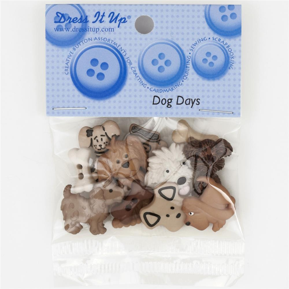 Dress It Up Embellishment Buttons  Dog Days