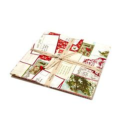 Riley Blake Postcards for Santa 10 In. Layer Cake Multi