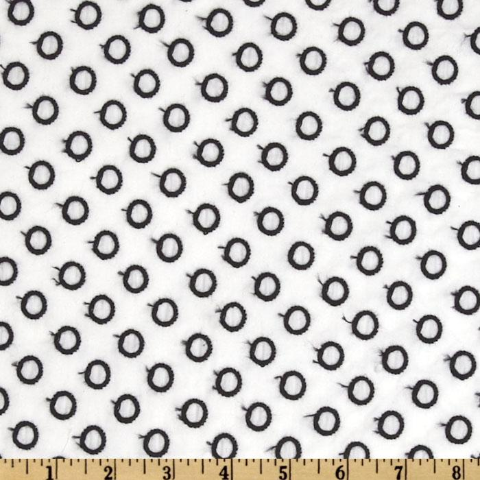 Kaufman Rebecca Embroidered Poplin Open Dots Black