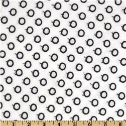 Rebecca Embroidered Poplin Open Dots Black