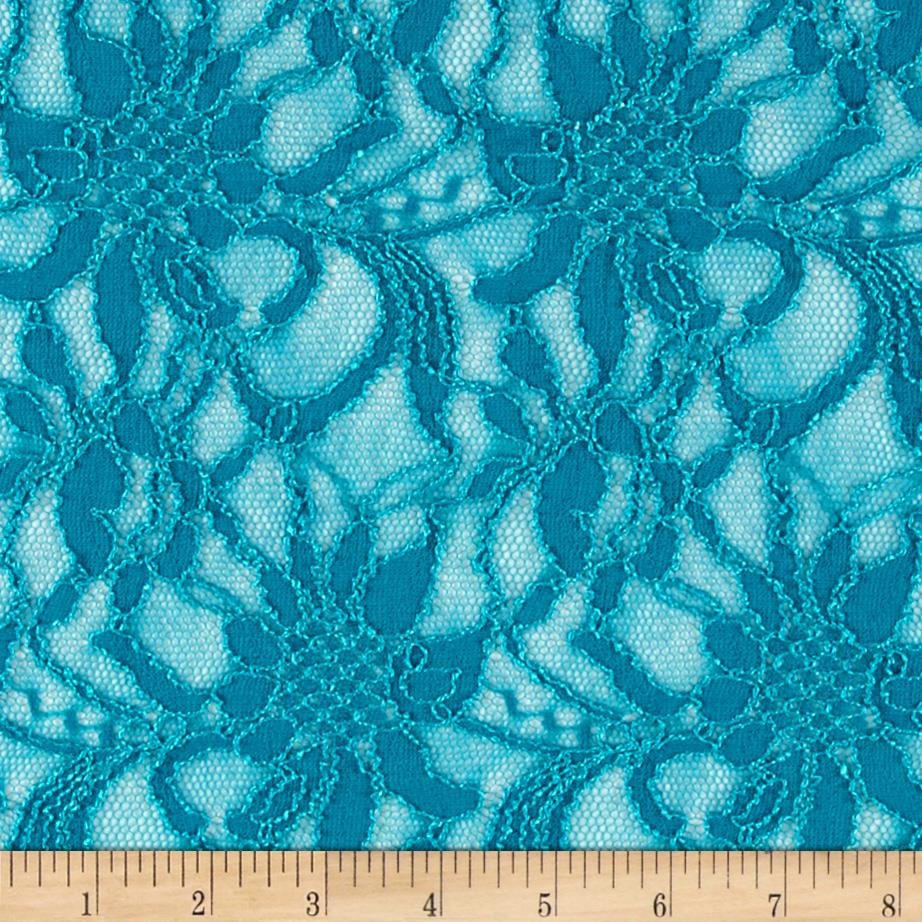 Polyester Lace Turquoise Wild Flower Turquoise